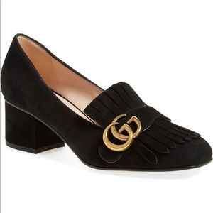 Gucci GG Marmont Mid-Heel Pumps